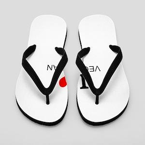 I Love Vegetarians Flip Flops
