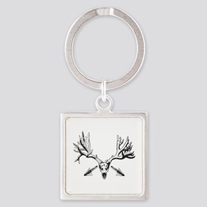 Broad head buck 214 Square Keychain