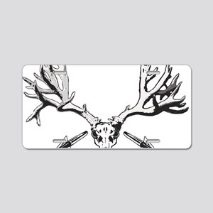 Broad head buck 214 Aluminum License Plate