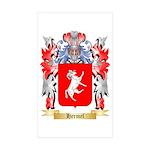 Hermel Sticker (Rectangle 50 pk)