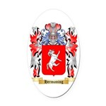 Hermaning Oval Car Magnet