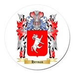 Herman Round Car Magnet