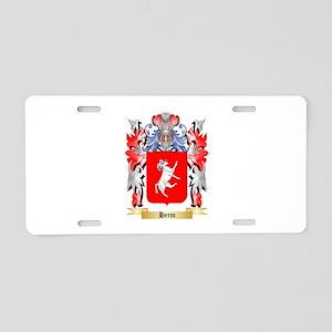 Herm Aluminum License Plate