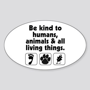 Be kind Oval Sticker