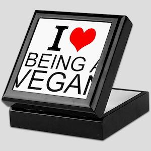 I Love Being A Vegan Keepsake Box