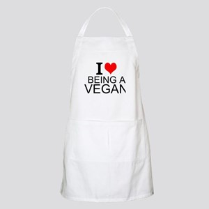 I Love Being A Vegan Apron
