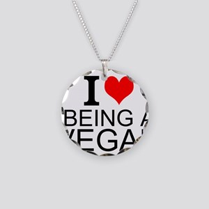 I Love Being A Vegan Necklace