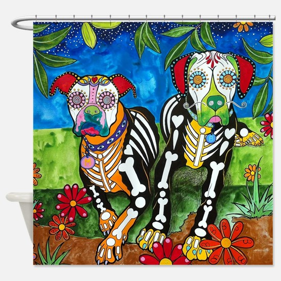 Maggie And Brutus, The Boxers Shower Curtain