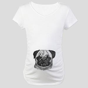 pug Maternity T-Shirt