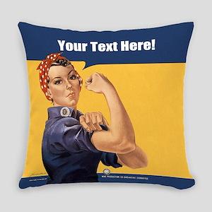 CUSTOM TEXT Vintage Rosie Master Pillow