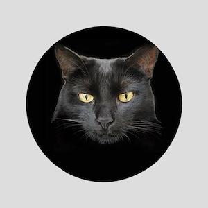 "Dangerously Beautiful Black Cat 3.5"" Button"