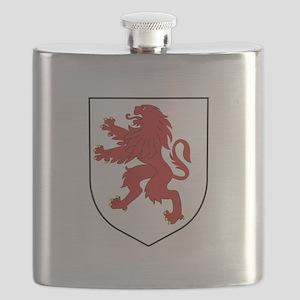 Lion Crest Flask