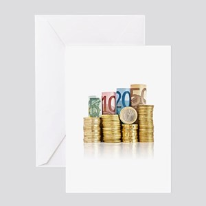 euro currency Greeting Cards