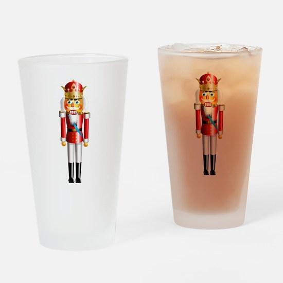 Funny Nutcracker King Drinking Glass