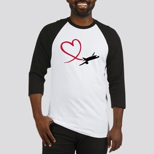 Airplane red heart Baseball Jersey
