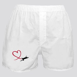 Airplane red heart Boxer Shorts