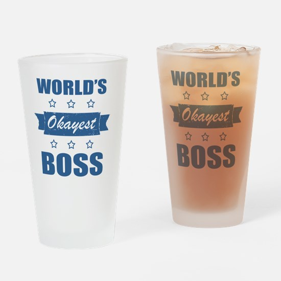 World's Okayest Boss Drinking Glass