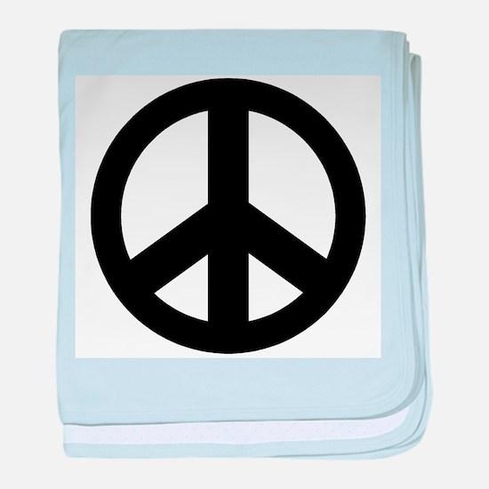 10peaceblack.png baby blanket