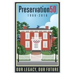 Preservation50 House Large Poster