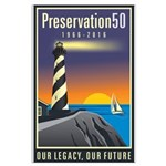 Preservation50 Lighthouse Large Poster