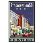 Preservation50 Main Street Large Poster