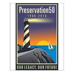 Preservation50 Lighthouse Small Poster