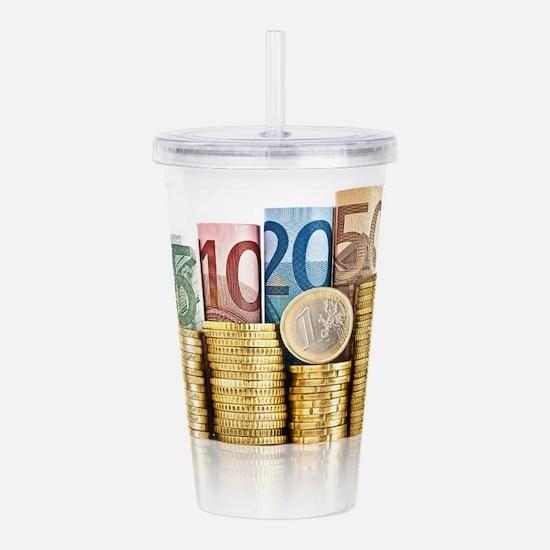 euro currency Acrylic Double-wall Tumbler