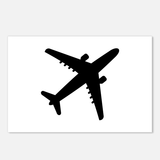 Airplane Jet Postcards (Package of 8)