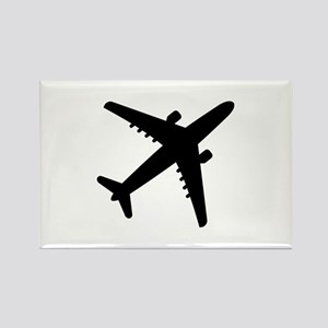 Airplane Jet Rectangle Magnet