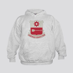 577th Army Engineer Battalion Military Kids Hoodie