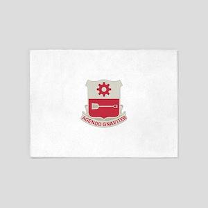 577th Army Engineer Battalion Milit 5'x7'Area Rug