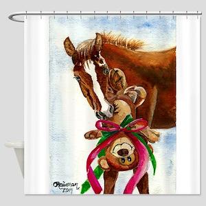 Beary Christmas Shower Curtain