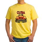 Cuban Mens Classic Yellow T-Shirts