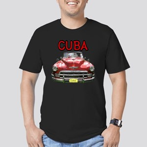 Old Car Cuba Men's Fitted T-Shirt (dark)
