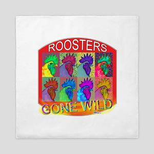 Roosters Gone Wild #3 Queen Duvet