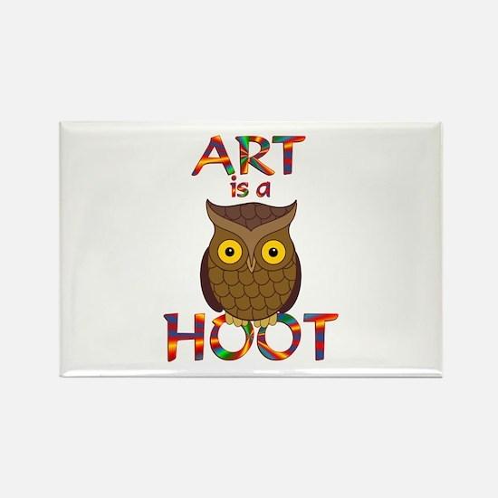 Art is a Hoot Rectangle Magnet