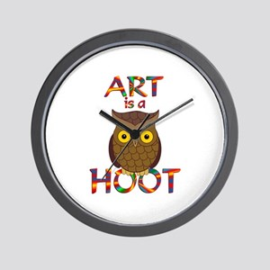 Art is a Hoot Wall Clock