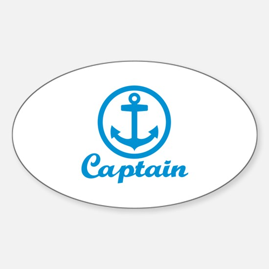 Anchor captain Sticker (Oval)