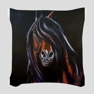 Morgan Stallion III Woven Throw Pillow
