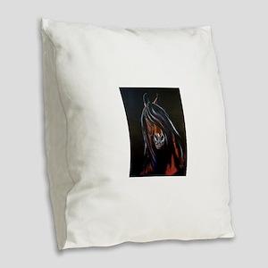 Morgan Stallion III Burlap Throw Pillow