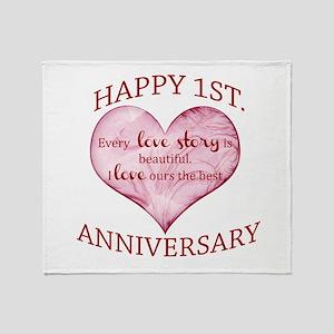 1st. Anniversary Throw Blanket