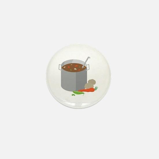 Pot Of Soup Mini Button