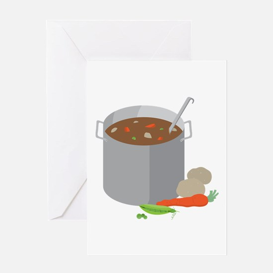 Pot Of Soup Greeting Cards