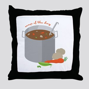 Soup Of Day Throw Pillow