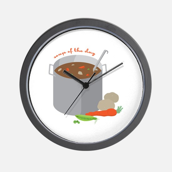 Soup Of Day Wall Clock