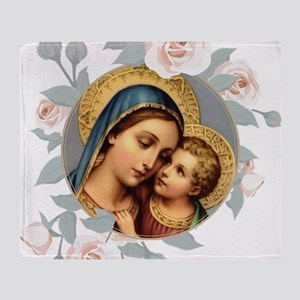 Our Lady of Good Remedy Throw Blanket