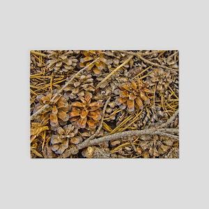 Pine Cone Carpet 5'x7'Area Rug