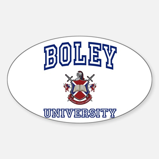 BOLEY University Oval Decal