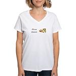 Pizza Queen Women's V-Neck T-Shirt