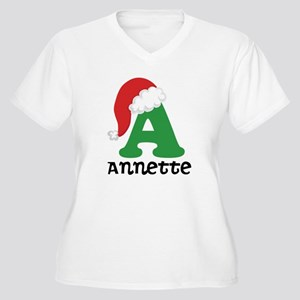 Christmas Personalized Santa Hat Plus Size T-Shirt